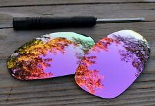 Polarized Dark Pink Rose Gold Mirror Sunglass Lenses for Oakley Juliet Warm Tint