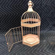 "Metal Decorative Bird Cage Plant Holder Candle Holder Decor 12.5""x5.5"""