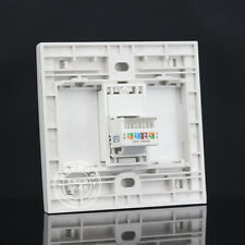 Wall Face Plate One Port Socket Network Ethernet LAN CAT6 Panel Faceplat RJ45