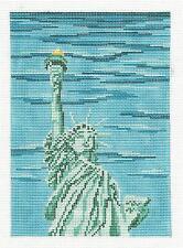 *NEW* STATUE OF LIBERTY  handpainted 18 mesh Needlepoint Canvas Needle Crossings