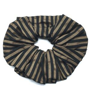 FENDI Pecan Scrunchie Hair Accessories Hair Elastic Canvas Brown x Black
