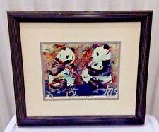 Gayle Faulkner Signed Numbered Panda Print Framed Three Bears Porridge 123/200