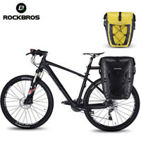 RockBros Bicycle Waterproof Pannier Cycling Travel Rear Seat Carrier Bag 1pcs