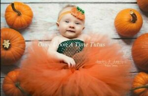 Pumpkin Costume, Girls Halloween Costume, Baby, Toddler, Infant, Fall Tutu Dress