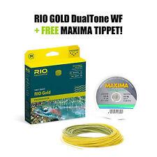 RIO GOLD DualTone WF4 Floating - Fliegenschnur - Fly Line + FREE MAXIMA Tippet!!