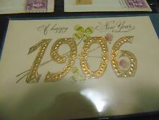 Vintage Scrapbook With Over 100 Antique Postcards From 1906 and 1 cent stamps