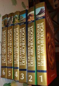 LE GRANDI AVVENTURE DELL'ARCHEOLOGIA 1980 CURCIO 6 volumi