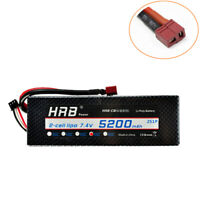 HRB 2S 7.4V 5200mAh Lipo Battery 50C 100C Hardcase for RC Car Truck Buggy Drone