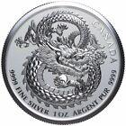 2019 1 Oz Silver $5 Canada LUCKY DRAGON High Relief Coin In Capsule.