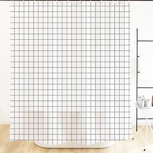 Wasserdichter und schimmelresistenter Bad-Duschvorhang mit Haken 180*180cm
