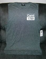NEW CARRÉ 1789 REVOLUTION STATIQUE MUSCLE TEE LONG STYLE CHARCOAL LARGE SIZE