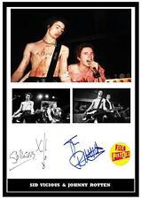 108.  SID VICIOUS & JOHNNY ROTTEN  SEX PISTOLS  SIGNED   PHOTOGRAPH REPRINT