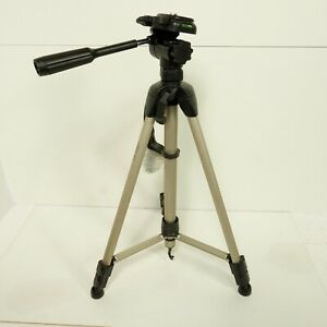 Hama Star 61 Portable Tripod Brushed Metal Black Sturdy Case Clean Condition D24