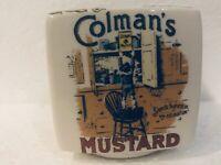 VTG Ceramic Bank Victorian Advertisements Colman's Mustard Price Candles Bovril