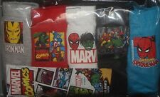 5 Pairs of MARVEL COMICS Boys 100% Cotton BRIEFS/PANTS Sizes 2 - 8 Years