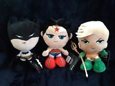 "New Dc Batman, Wonder Woman, and Aqua Man 7"" collectible plush by se7en 20"