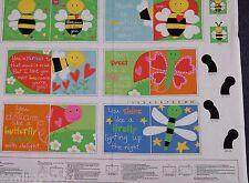 Huggable & Lovable book Panel.100% cotton. Honey Bee pattern 3360P