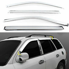 Chrome Sun Shade Rain Guard Window Vent Visor for 01-06 Santa Fe