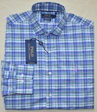 Nouveau Taille M Polo Ralph Lauren Hommes Boutonné Chemise Habillée Rose Bleu