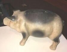 Vtg CAST IRON PIG Piggy Bank Door Stop Stamped CB 8