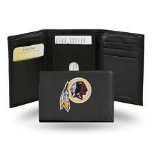 Washington Redskins NFL Team Logo Embroidered Leather TRIFOLD Wallet
