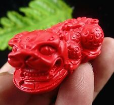 wholesale Beautiful cinnabar carved Pixiu pendant bead BC4002