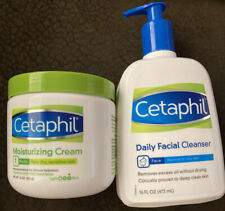 Cetaphil Moisturizing Body Cream And Daily Facial Cleanser
