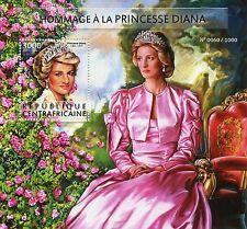 République CENTRAFRICAINE 2015 neuf sans charnière Princesse Diana hommage 1v s / s Royalty