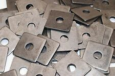 (40) Plain Steel 1/2 x 2 Square Plate Washers 3/16 Thick Unplated