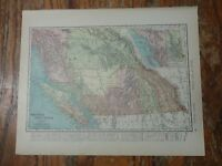 Nice colored map of British Columbia -1907 Universal Atlas of the World