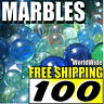 100 L New Lot Colourful Marbles Toy Game Gift FREE SHIP