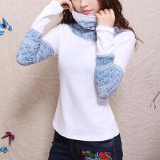 Création! T-shirt sous-pull col roulé imprimé chinois blanc T.44  2140