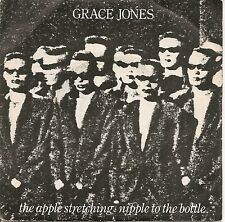 "45 TOURS / 7"" PROMO--GRACE JONES--THE APPLE STRETCHING / NIPPLE TO THE BOTTLE"