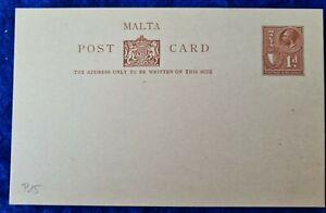 1936 Malta POST PAID POSTCARD KGV 1 UPU UNUSED / MINT postcard
