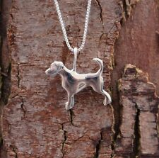 Sterling Silver 925 Dog Pendant & Chain Necklace Pure Origins Sea Gems Memorial