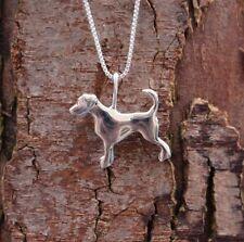 Sterling Silver 925 Dog Pendant & Chain Necklace Pure Origins Sea Gems Memorial