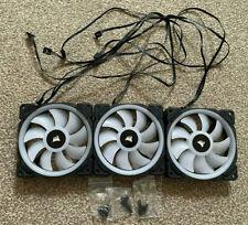 More details for corsair - ll120 rgb fans (x3), 120mm case fans (lot a)