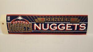DENVER NUGGETS   Vintage Team Bumper Sticker (1990's) Decal Strip