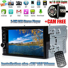2DIN Car STEREO DVD CD FM USB TV MIRROR LINK RADIO BLUETOOTH WITH BACK UP CAMERA