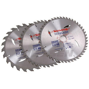 """Pack of 3   ~  235 mm - 9 ¼ """" TCT Cutting Saw Disc / Blades"""