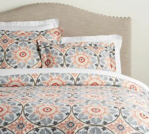 Pottery Barn Veronica Organic Percale Duvet Cover, Twin AND Sham Standard