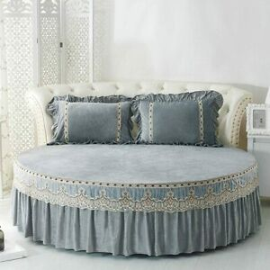 Round Bed Classic Coverlet Bedspread Bed Mattress Decorative-A-Diameter 200cm