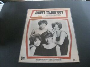 1966 The Chiffons' Sweet Talkin' Guy US sheet music - VG