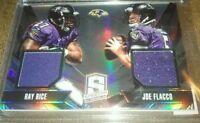 Joe Flacco Ray Rice /299 jersey 2013 Panini Spectra Dual Baltimore Ravens