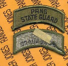 US ARMY PUERTO RICO NATIONAL GUARD STATE GUARD OD Green Black TAB patch m/e
