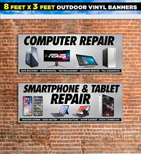 Smartphone Tablet Computer Repair SET OF 2 outdoor banner sign poster iphone