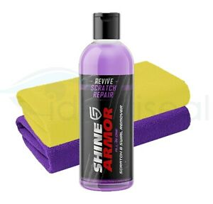 Shine Armor Revive Car Scratch Swirl Remover Clean + 2 x Microfiber Cloth