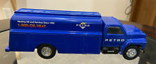 1991 ERTL Collectibles Ford F-700 Diecast PETRO Oil Tanker Piggy Bank with Keys