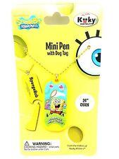 SpongeBob Squarepants Mini Pen Dog Tag Chain Necklace Jewelry Kooky Klicker New