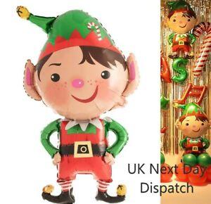 Large Supersize Foil Christmas Elf Balloon Naughty Elf on Shelf 95 x 60 cm uk